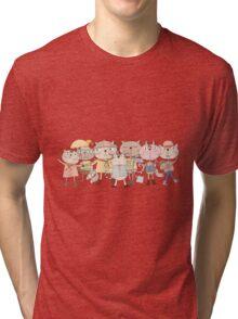 Cute Cartoon Pets Club Cats Tri-blend T-Shirt
