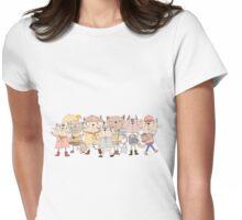 Cute Cartoon Pets Club Cats Womens Fitted T-Shirt