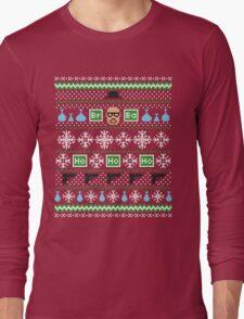 Heisenberg Holiday Sweater + Card Long Sleeve T-Shirt