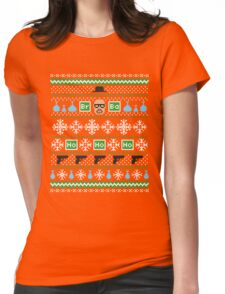Heisenberg Holiday Sweater + Card Womens Fitted T-Shirt