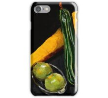 Green and yellow marrows with apples iPhone Case/Skin