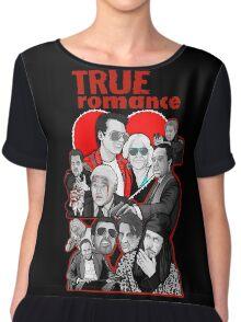 True Romance character collage art Chiffon Top