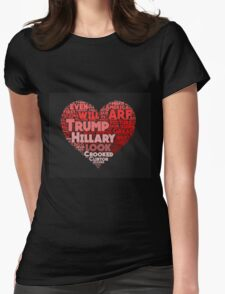 2016 Political Word Cloud Womens Fitted T-Shirt