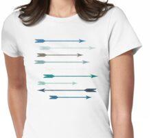 Liquid Target (Blue) Womens Fitted T-Shirt