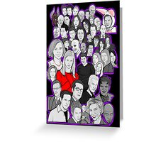 buffy the vampire slayer/Angel character collage Greeting Card