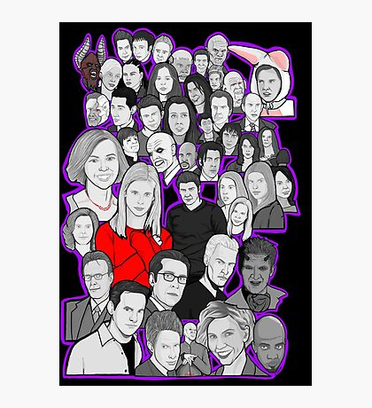 buffy the vampire slayer/Angel character collage Photographic Print