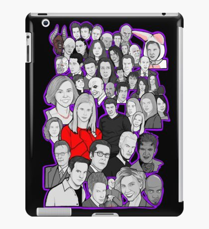 buffy the vampire slayer/Angel character collage iPad Case/Skin