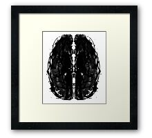 Inkblot Brain Framed Print