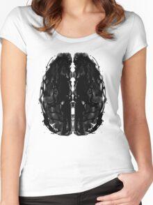Inkblot Brain Women's Fitted Scoop T-Shirt