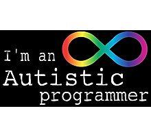 Autistic Programmer Photographic Print