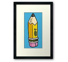 Pencil BUTT Framed Print