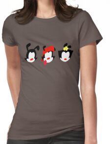Animaniacs Trio Womens Fitted T-Shirt
