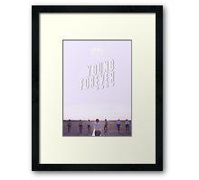 BTS/Bangtan Sonyeondan - Young Forever (Blue) Framed Print