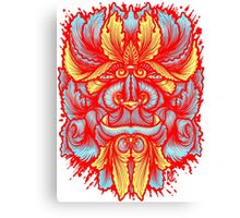 Filigree Leaves Forest Creature Beast Red Variant Canvas Print