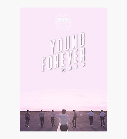 BTS/Bangtan Sonyeondan - Young Forever (Pink) Photographic Print