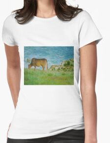 cattle in Tap Mun Womens Fitted T-Shirt