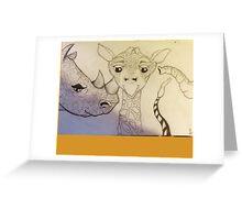 Beasts Greeting Card