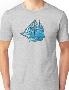 Sailboat Outline Unisex T-Shirt
