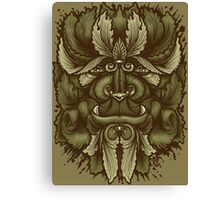 Leaves Forest Creature Canvas Print