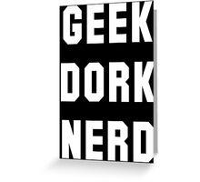 geek dork nerd Greeting Card