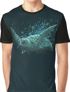 """""""Eclipse"""" - Green Sea Turtle, Acrylic Graphic T-Shirt"""