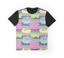 Exclamation Pattern Graphic T-Shirt