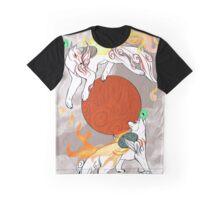 Cycle of the Sun - Okami Anniversary Tribute  Graphic T-Shirt