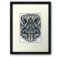 Filigree Leaves Forest Creature Beast Variant Framed Print