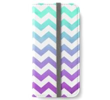 Purple Mint Aqua Ombre Chevron Pattern iPhone Wallet/Case/Skin