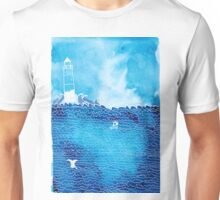 Lighthouse in Rough Seas Unisex T-Shirt