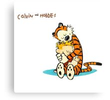 hug calvin and hobbes Canvas Print