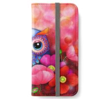 Owl in Poppy Field iPhone Wallet/Case/Skin