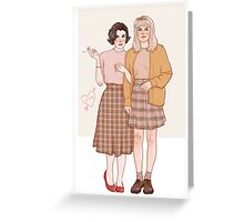 audrey and laura Greeting Card