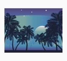 Palm Tree at Night 2 Kids Tee