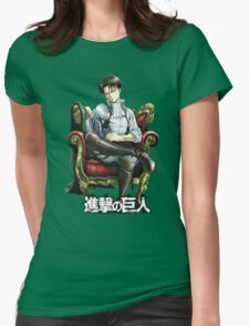 levi from attack on titan throne design Womens Fitted T-Shirt