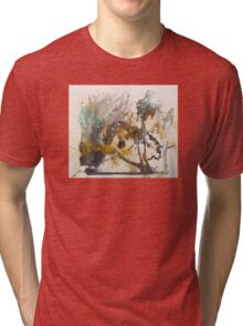 Elegant Ink Designs for large abstract wall art and textile prints Tri-blend T-Shirt