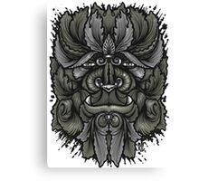 Filigree Leaves Forest Creature Beast Vintage Variant Canvas Print