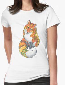 Mandala Fox Womens Fitted T-Shirt