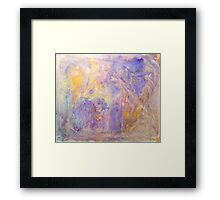 Gorgeous hand made pigment design for large decorative Wall Art and Textile prints Framed Print