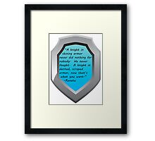 Knights In Army Framed Print