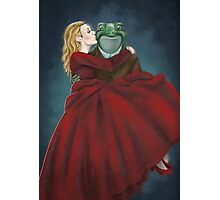 Froggy and Red Photographic Print