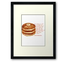 Pancake City Framed Print