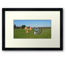 Two Cats Waiting To Play Framed Print