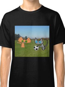 Two Cats Waiting To Play Classic T-Shirt