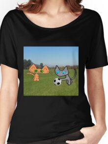 Two Cats Waiting To Play Women's Relaxed Fit T-Shirt