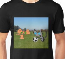 Two Cats Waiting To Play Unisex T-Shirt