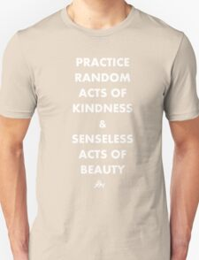 PRACTICE RANDOM ACTS OF KINDNESS AND SENSELESS ACTS OF BEAUTY T-Shirt