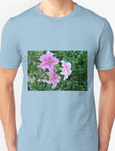 Pink flowers macro, natural background. T-Shirt