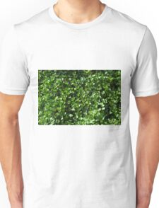 Green leaves pattern. Unisex T-Shirt