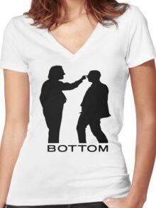 bottom 1 Women's Fitted V-Neck T-Shirt